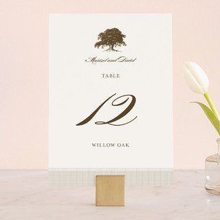 Modern Crest Wedding Table Numbers
