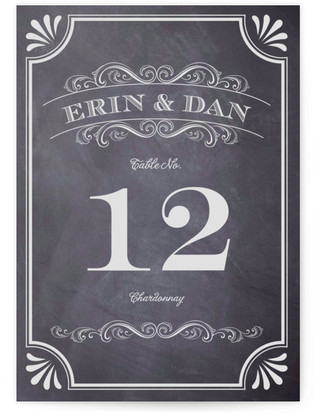 A Chalkboard Marriage Table Numbers
