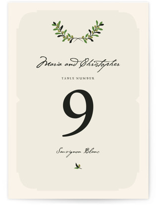 Italiano Table Numbers
