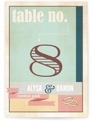 Eclectic Table Numbers