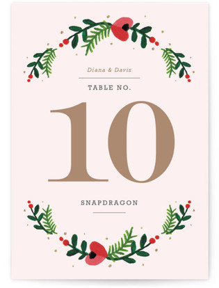 Simple Flora Table Numbers
