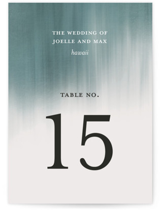 Modern Beach Table Numbers
