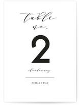 Elegant Monogram Wedding Table Numbers