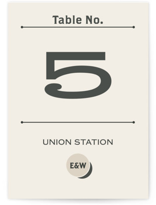 A Blessed Union Table Numbers