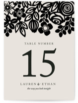 Modern Floral Frame Wedding Table Numbers