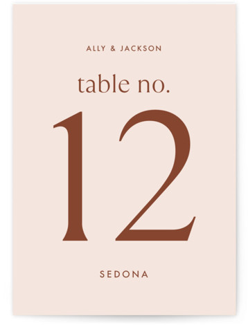 There Will Be a Party Table Numbers