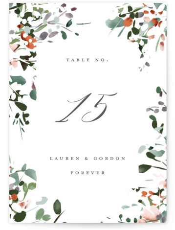 The Field Of Love Table Numbers