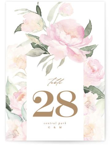 beautiful peonies Table Numbers