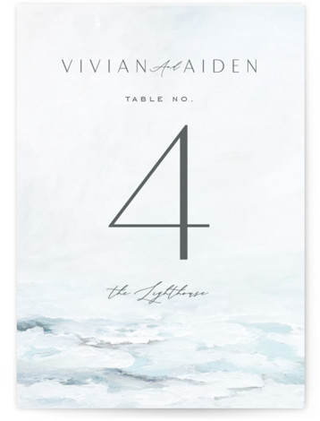 At Sea Table Numbers