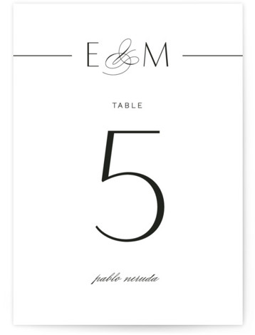 Of Note Table Numbers
