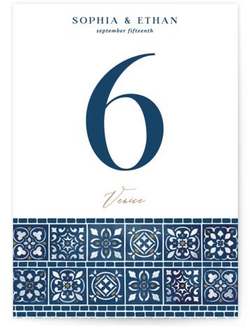 Mediterranean Tiles Table Numbers
