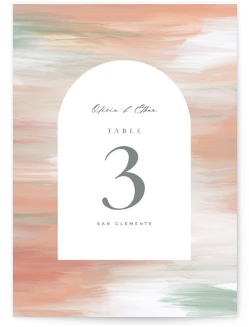 Painted Leaves Table Numbers