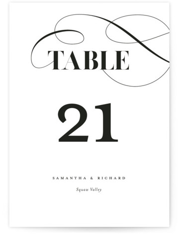 whimsical ampersand Table Numbers