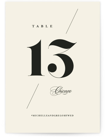 Big Date Table Numbers