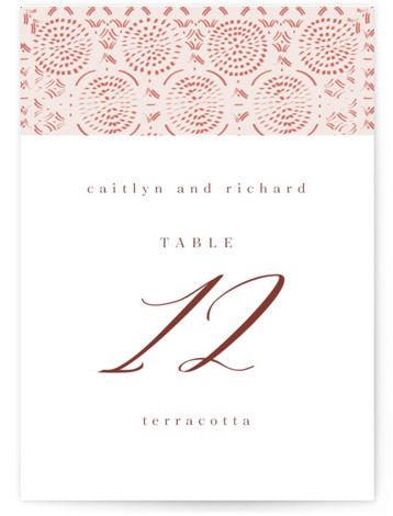 Terracotta Table Numbers