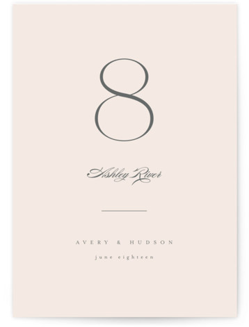 Anson Table Numbers
