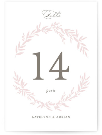 Gathered Table Numbers