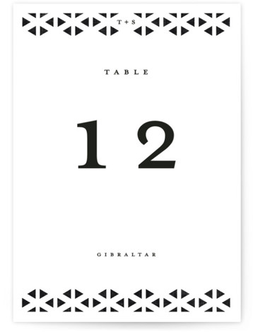 Beau tied Table Numbers
