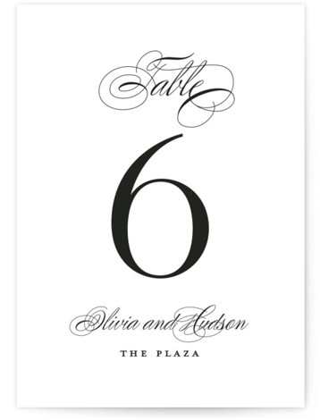 Plaza Table Numbers