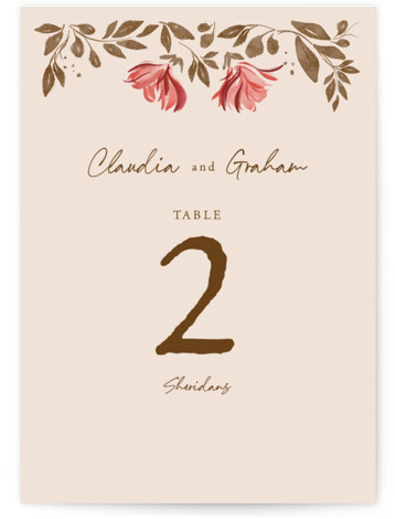 Painterly Florals Table Numbers
