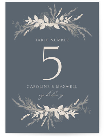 Winter White Botanicals Table Numbers
