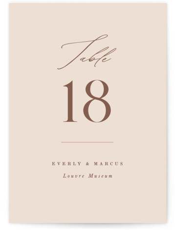 Everly Table Numbers