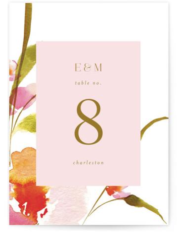 colorwash floral Table Numbers