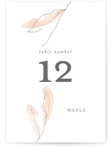 Autumn Euphoria Table Numbers