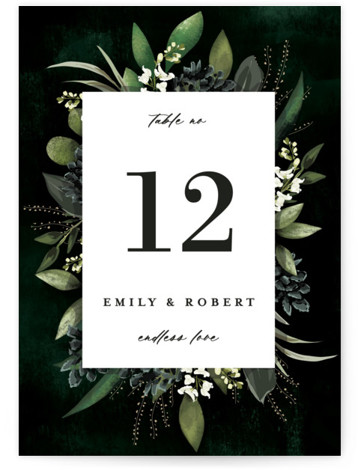 Forest Finds Table Numbers