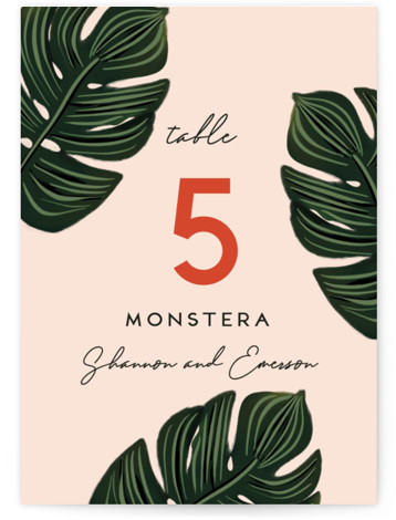 Tropical Oasis Table Numbers