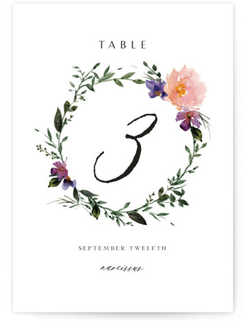 Garlands Table Numbers