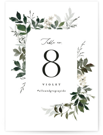 Grove Table Numbers