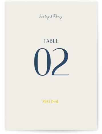 Ophelia Table Numbers