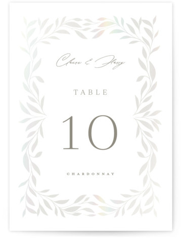 Clarity Gloss Press Table Numbers