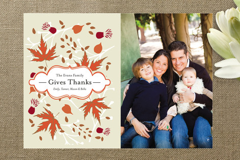 Autumn Bloom Thanksgiving Cards