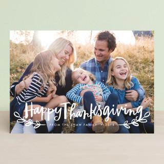 Happy Thanksgiving Script Thanksgiving Cards