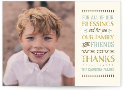 Thankful Photo Thanksgiving Card