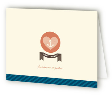 Maritime Stripe Thank You Cards