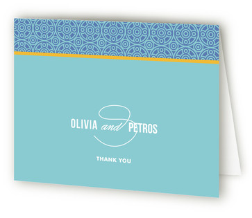 Mediterranean Stucco Thank You Cards