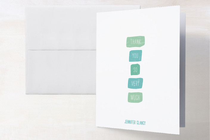 """Color Swatches"" - Modern Thank You Cards in Aqua by roxy."