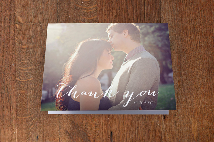 """Picture Perfection"" - Classical, Modern Thank You Cards in White by SimpleTe Design."