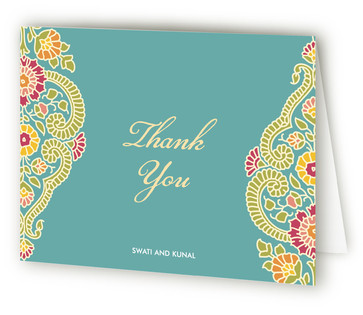 Modern Maharani Thank You Cards
