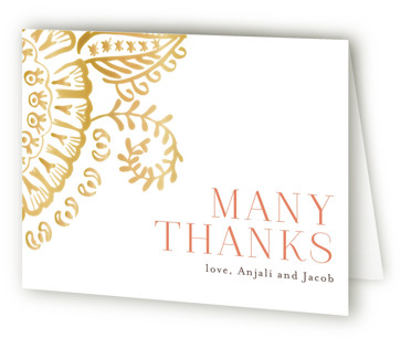 Modern Mehndi Thank You Cards