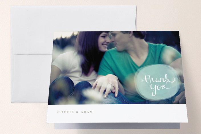 """Simphonia"" - Modern Thank You Cards in Robin's Egg by chocomocacino."