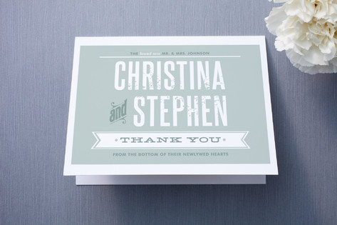 Woodtype Poster Thank You Cards