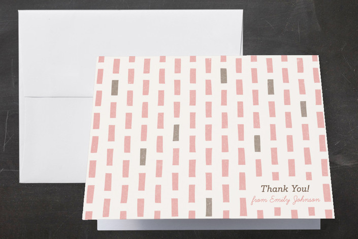"""""""The Blocks of Color"""" - Modern Thank You Cards in Blush by Four Wet Feet Studio."""