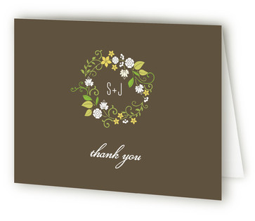 A Bloomin' Wreath Thank You Cards
