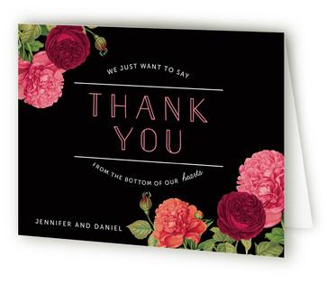 Romantic Botanic Thank You Cards