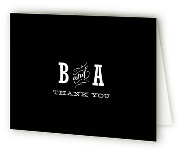 Antique Chalkboard Thank You Cards
