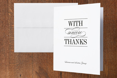 Classically Stacked Thank You Cards